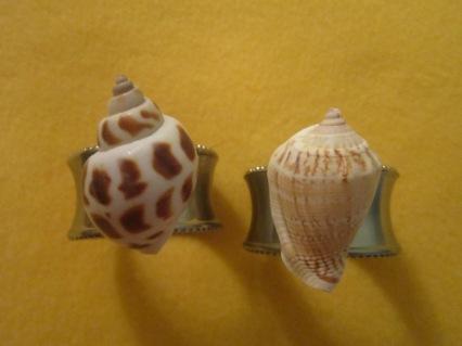 Seashell Embellished Napkin Rings